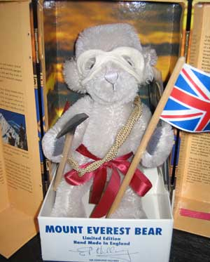 MT EVEREST SIGNED SIR E HILLARY by MERRYTHOUGHT